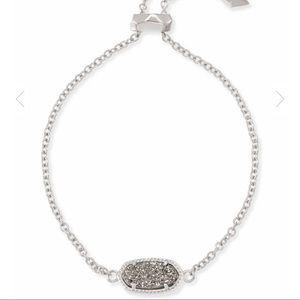 Kendra Scott Elaina Silver Adj Chain Bracelet
